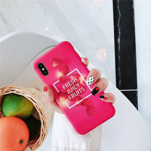 Fashion Juicy Fruits Red iPhone Cases