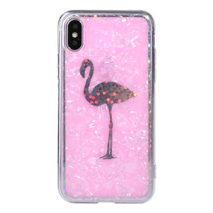 Glitter Flamingo Pink iPhone Cases