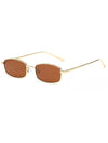 Retro 1990's Rectangle Flat Lens Sunglasses