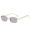 Retro 1990's Rectangle Tiny Small Sunglasses