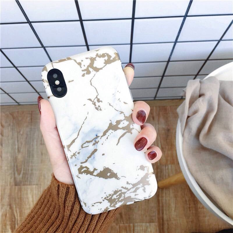 Golden Metalic Marble iPhone Cases