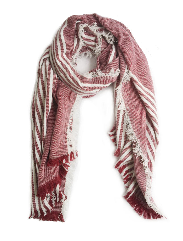 Maroon/White Stripes Scarf