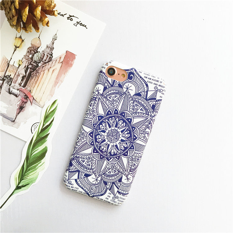 Blue Moroccan Patterns iPhone Cases