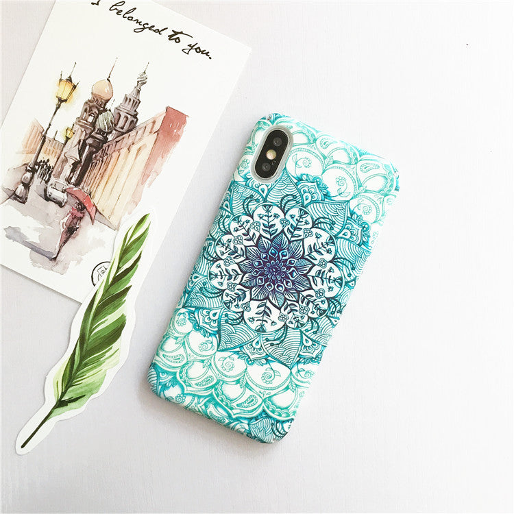 Mint Moroccan Patterns iPhone Cases