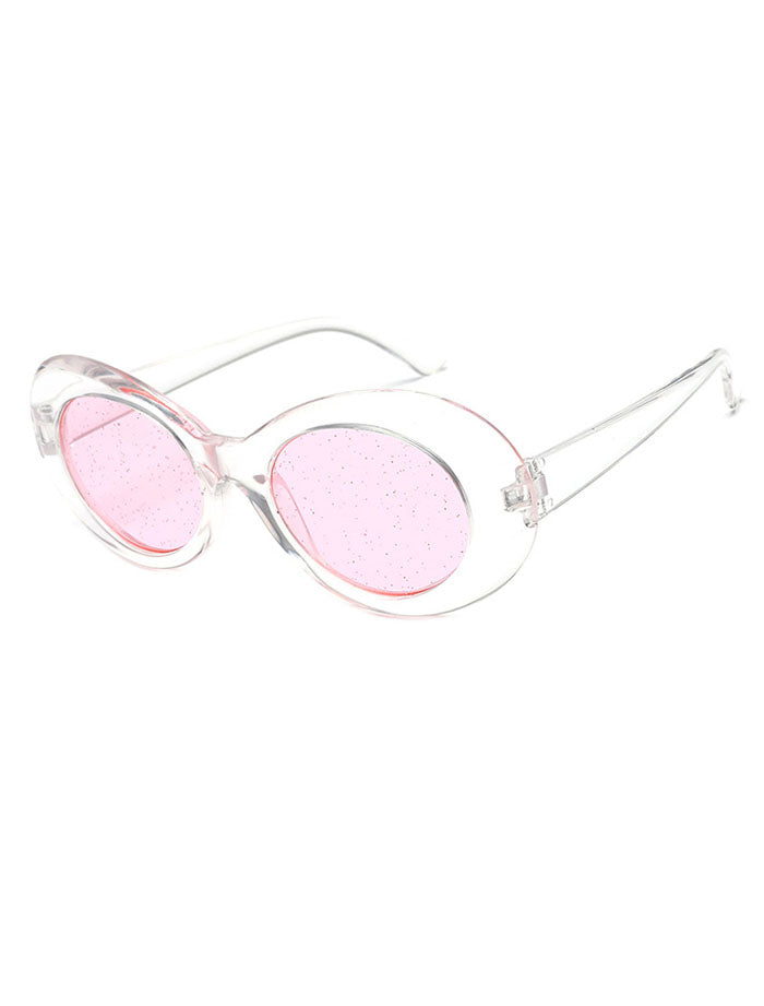 2135f1385df Clout Oval Glitter Colored Lens Sunglasses – ILYMIX Accessories