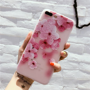 Pink Blooming Floral iPhone Cases