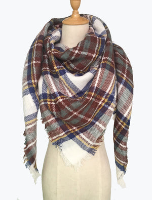 Blanket Plaid Tartan Scarf Oversized