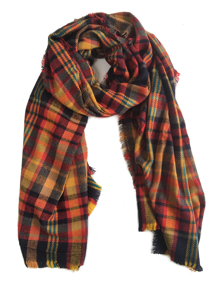 Blanket Plaid Scarf | Multi