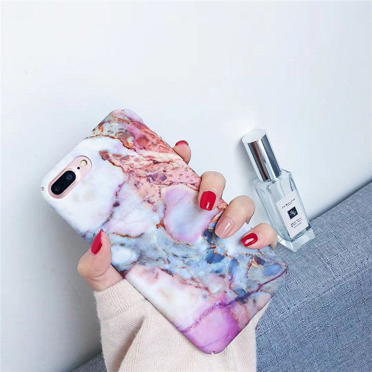 Violet Pastel Marble iPhone Cases