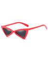 Retro Triangle 90s Cat Eye Sunglasses Red