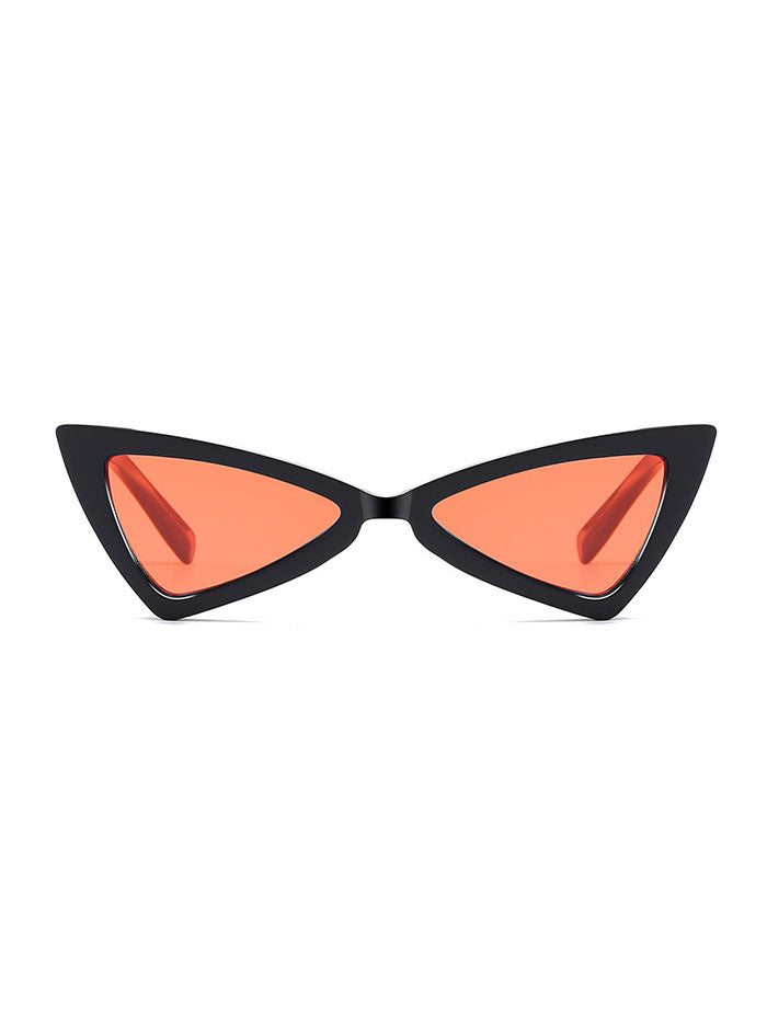 Retro Triangle Cat Eye Colored Lens Sunglasses