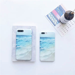 Blue Ocean Wave Silicone iPhone Cases