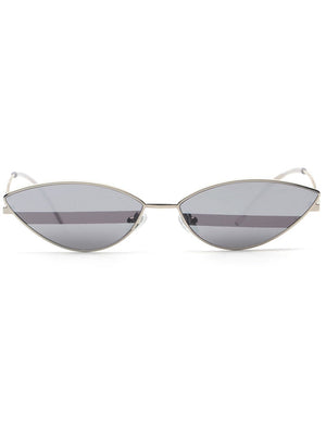 Retro 90's Cat Eye Mirrored Lens Sunglasses