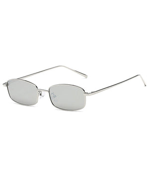 Retro 1990's Rectangle Mirrored Sunglasses