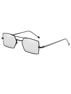 1990s Vintage Small Rectangle Mirrored Sunglasses