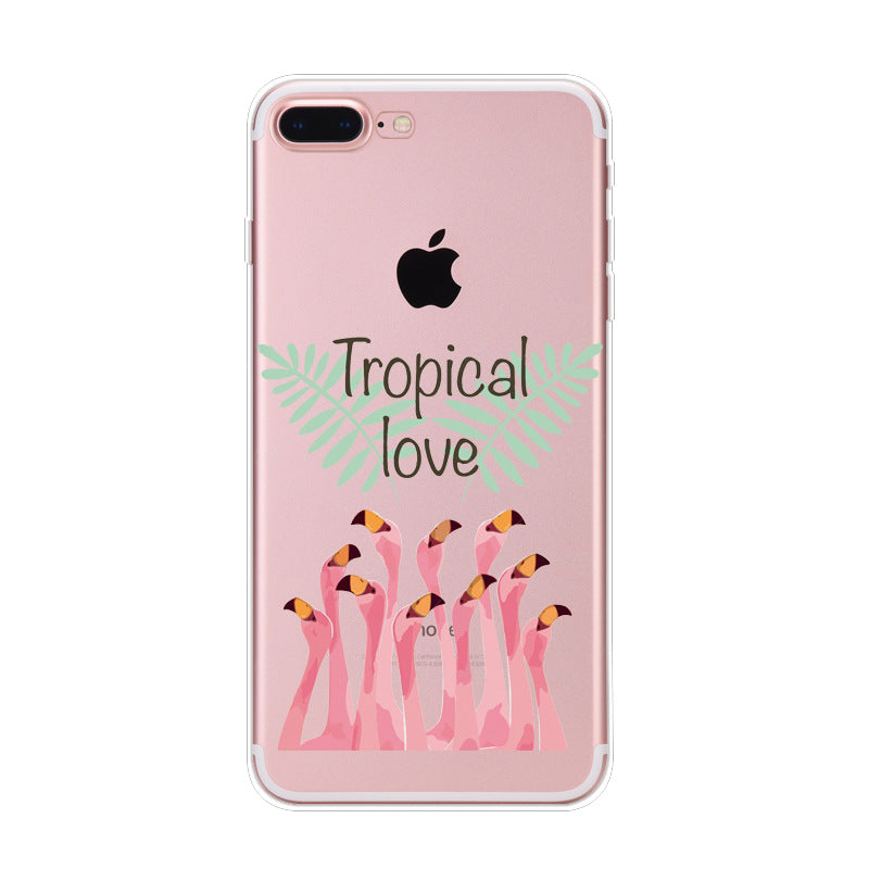 Tropical Love Flamingo iPhone Cases