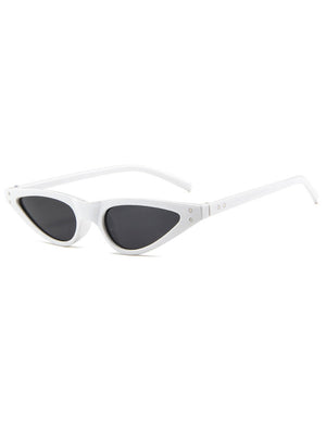 Retro 90's Thin Cat Eye Rivet Sunglasses