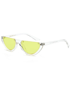 Retro Half Circle Rimless 90's Sunglasses