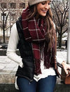 Chunky Knit Grid Scarves
