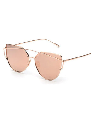 Double Crossbar Metal Pantos Aviator Sunglasses