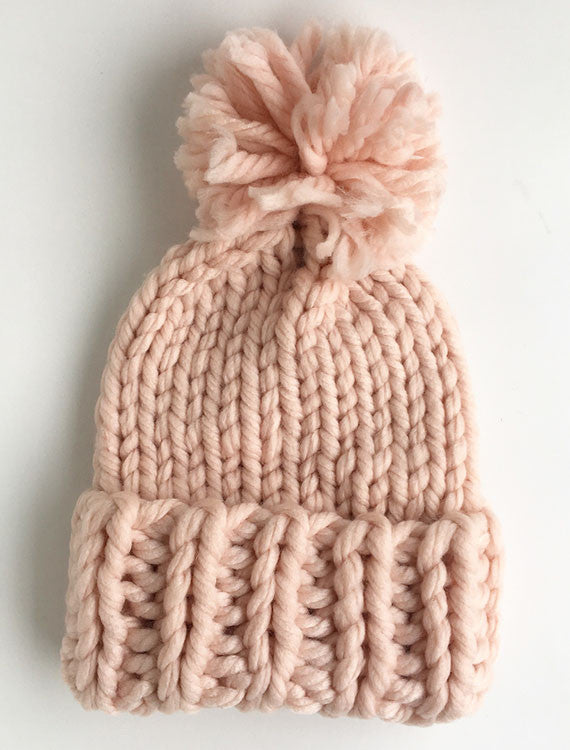 Chunky Knit Beanie | Pink