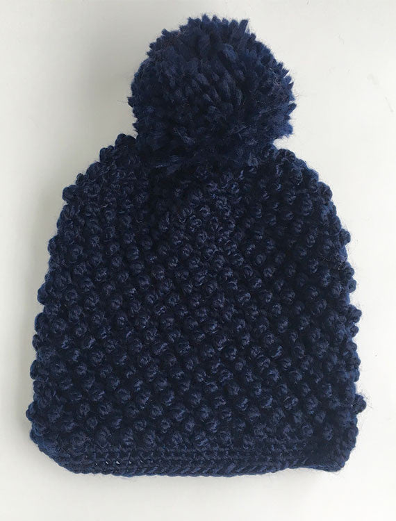 Solid Knit Beanie | Blue
