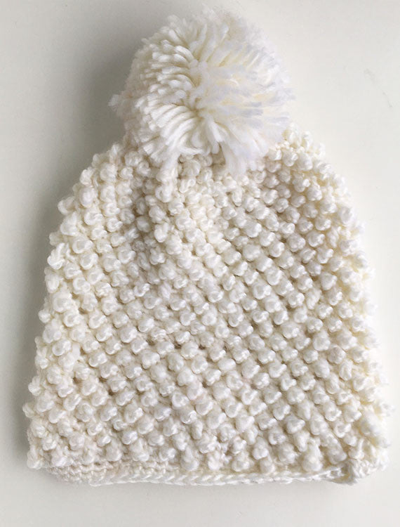 Solid Knit Beanie | White