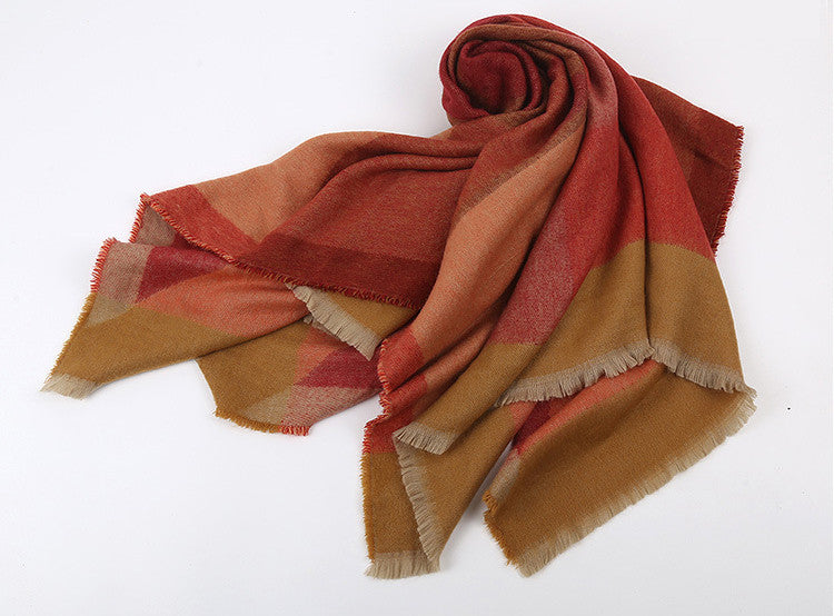 Color Block Blanket Scarf | Two Colors