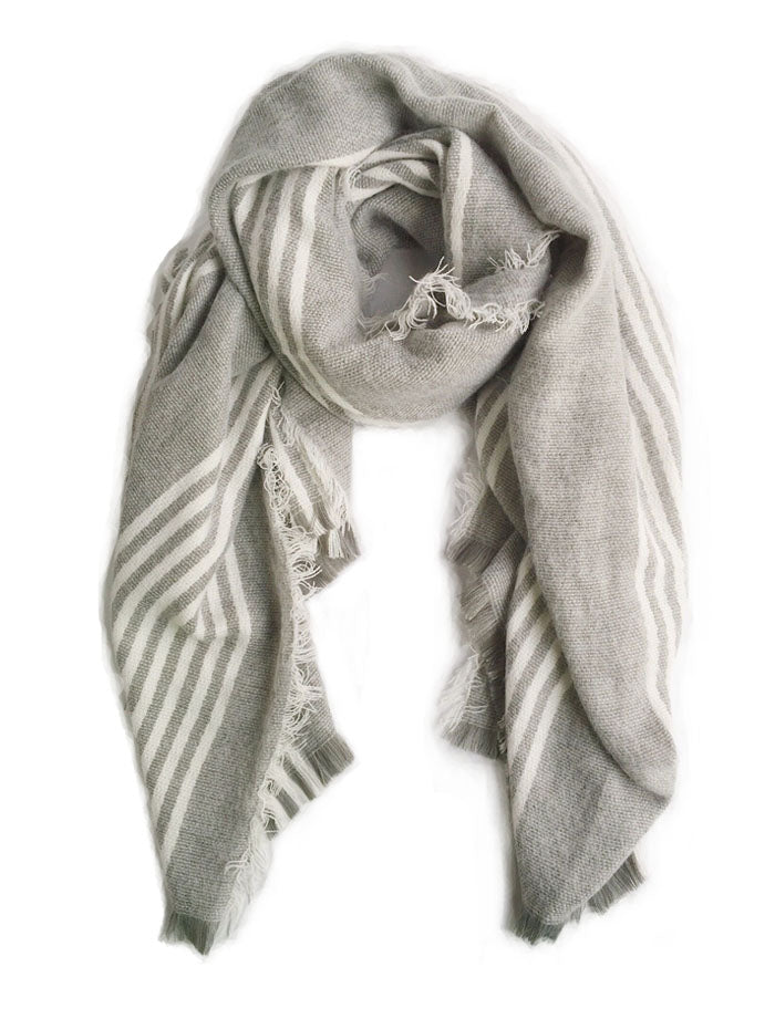Gray/White Stripes Scarf