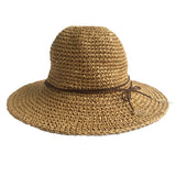 Packable Golden Sequin Straw Hats | Six Colors
