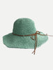 Crochet Packable Straw Hats Slim Band | Three Colors