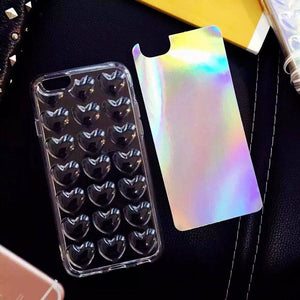 Heart Laser Aurora iPhone Cases