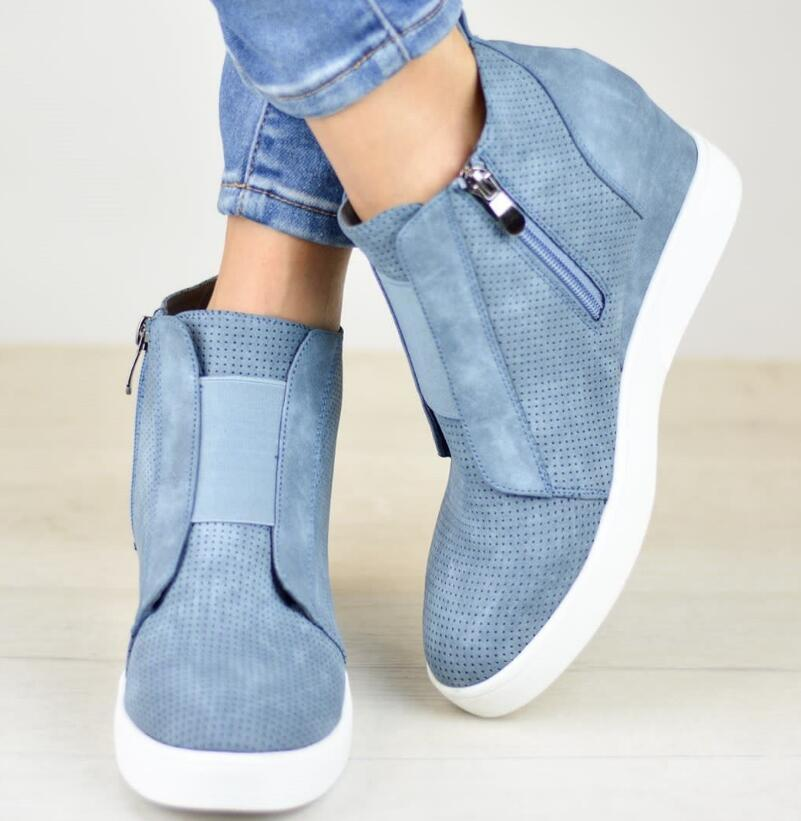 0231538f399 Women Wedge Sneakers Shoes Ankle Boots – ILYMIX Accessories