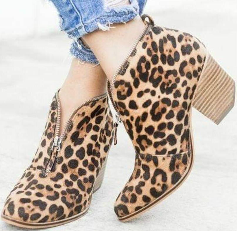 709636c4f88 Women Ankle Boots Autumn Chunky High Heels Pumps Shoes – ILYMIX ...