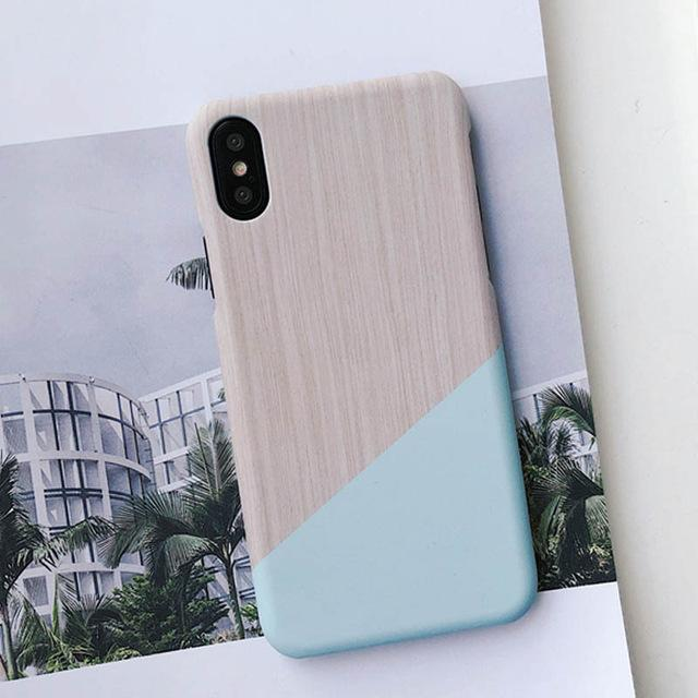 Geometric Pattern Marble iPhone Case
