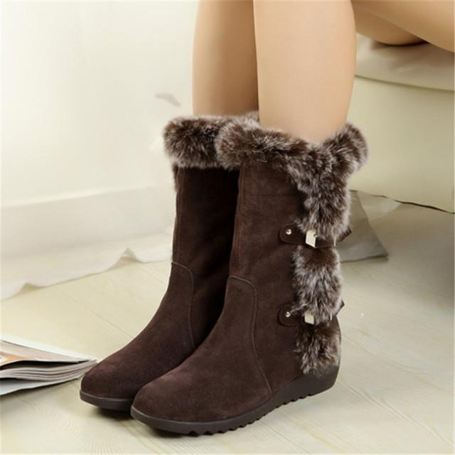 Women Winter Casual Warm Fur Snow Boots Shoes