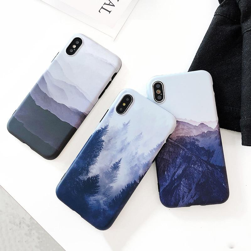 Landscape Scenery Painted iPhone Cases