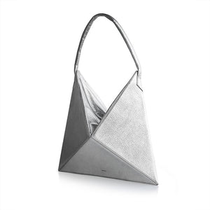 Trend Triangle Folding Rhombus Folded Tote Shoulder Bag Handbag