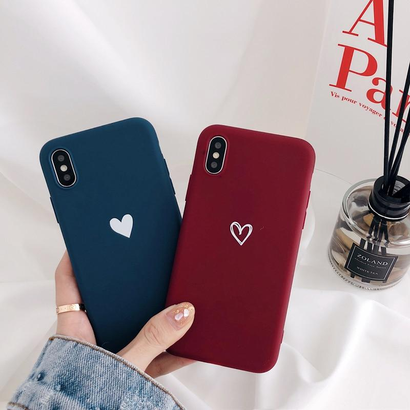 Minimal Heart Matte iPhone Cases