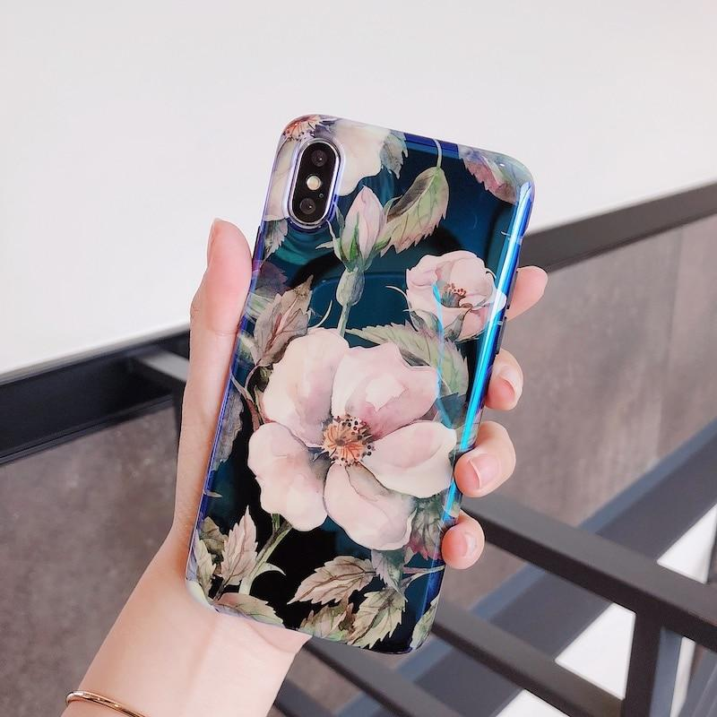 Retro Camellia Flowers iPhone Case