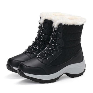Women Snow Boots Winter Shoes Tall Sneakers