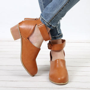 Women Vintage Spring Autumn Ankle Boots Ladies Fashion Faux Suede Shoe