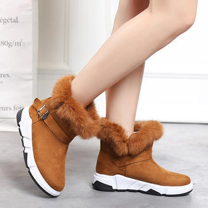 Snow Boots For Woman Winter Ankle Boot Cusual Flat Shoes