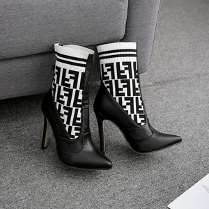 Fashion Women Casual High Heel Boots Autumn Winter Shoes
