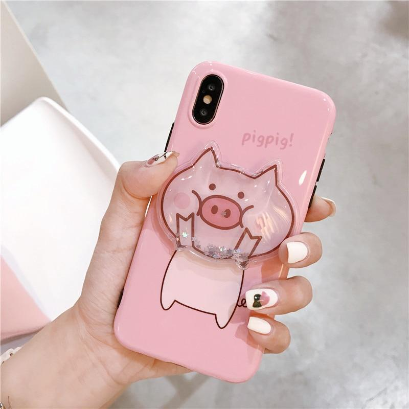 Cute Cartoon Pig Squishy iPhone Cases