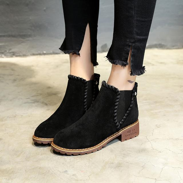 Women Martin Ankle Boots Suede Autumn Winter Shoes