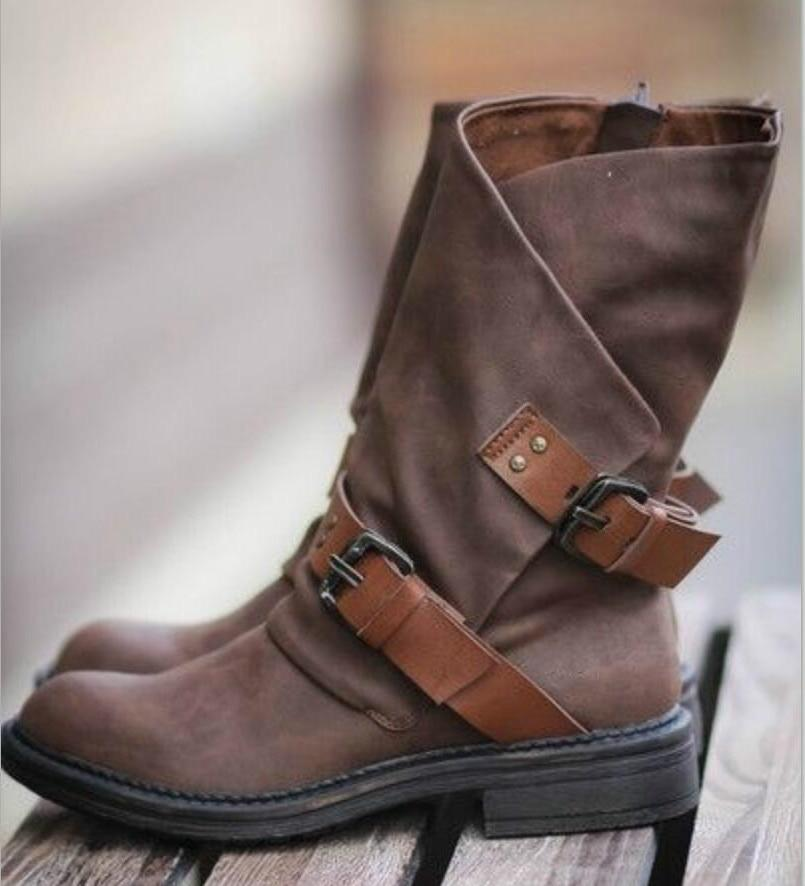 Women Vintage Fall Boots Matin shoes Ladies Booties