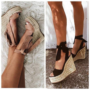 Ladies Shoes Women Wedge Sandals Pumps Peep Toe