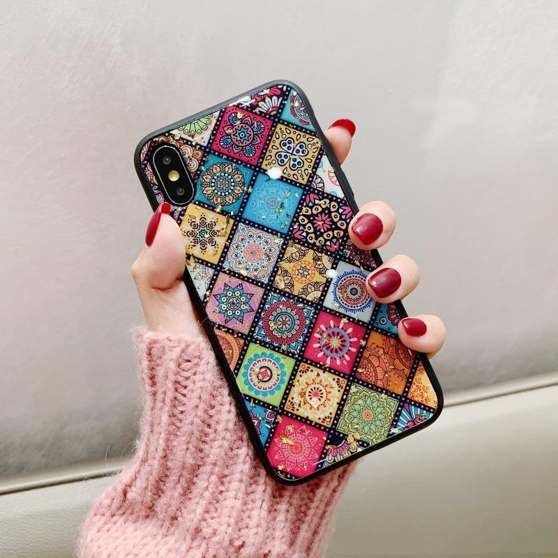 Retro Ethnic Totem Lattice Pattern Case For iPhone