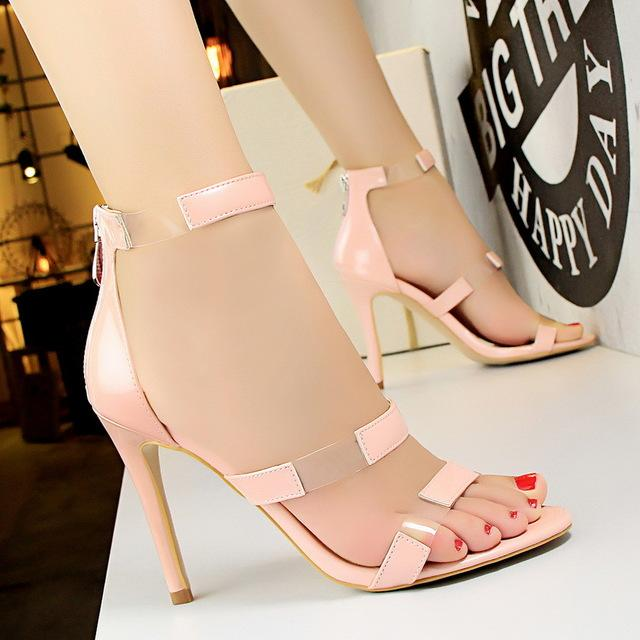 High Heels Fashion Women Patent Leather Shoes  Pumps  New Transparent